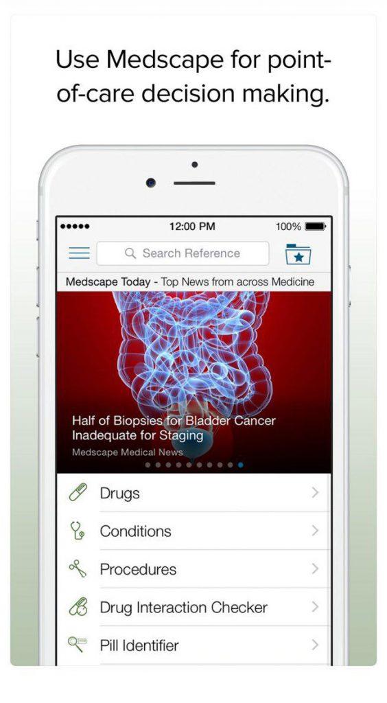 اپلیکیشن اطلاعات پزشکی medscape