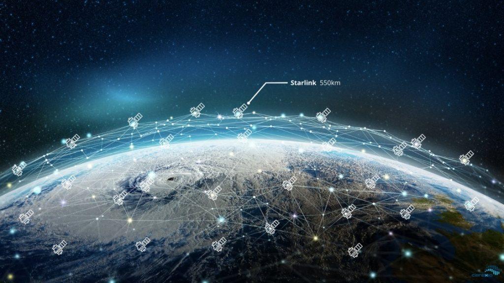 پوشش جهانی ماهواره های Sarlink (استارلینک)